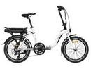 Rower elektryczny Lovelec Hadar WHITE / BLACK, rama składana, akumulator bagażnikowy 10 Ah, 250 W, silnik tylny
