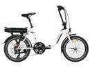 Rower elektryczny Lovelec Hadar WHITE / BLACK, rama składana, akumulator bagażnikowy 13 Ah, 250 W, silnik tylny