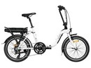 Rower elektryczny Lovelec Hadar WHITE / BLACK, rama składana, akumulator bagażnikowy 16 Ah, 250 W, silnik tylny