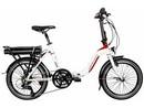 Rower elektryczny Lovelec Izar WHITE / RED, rama składana, akumulator bagażnikowy 16 Ah, 250 W, silnik tylny