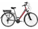 Rower elektryczny Lovelec Maia BLACK / RED, rama 19, akumulator bagażnikowy 16 Ah, 250 W,silnik centralny