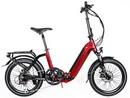 Rower elektryczny Lovelec Flip RED / BLACK, rama składana, akumulator integrowany 13 Ah, 250 W, silnik tylny